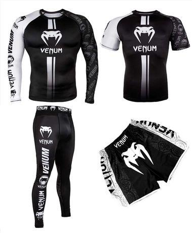 Комплект 3 в 1 Venum Logos венум рашгард, футболка, леггинсы, шорты.