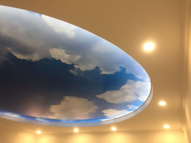 Натяжные потолки от 120 грн . Натяжной потолок. Установка . Гарантия
