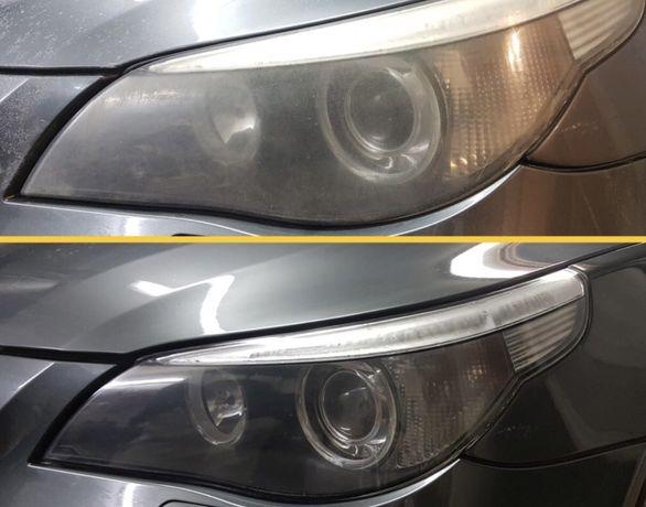 Polerowanie lamp, lakieru oraz nakladanie powłoki ceramicznej  na auto