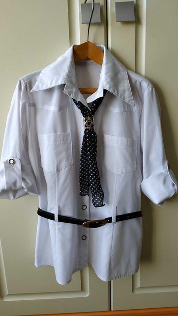 Рубашка(блуза) для школы 1-4 класс, на девочку 7-10 лет