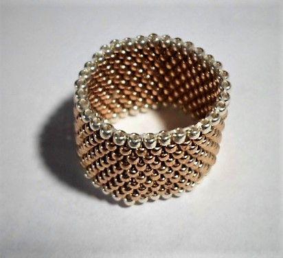 Obrączka złota japońskie koraliki toho rękodzieło.