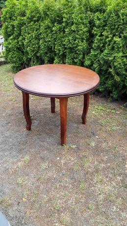 Okrągły stół w okleinie mahoń 103cm srednica
