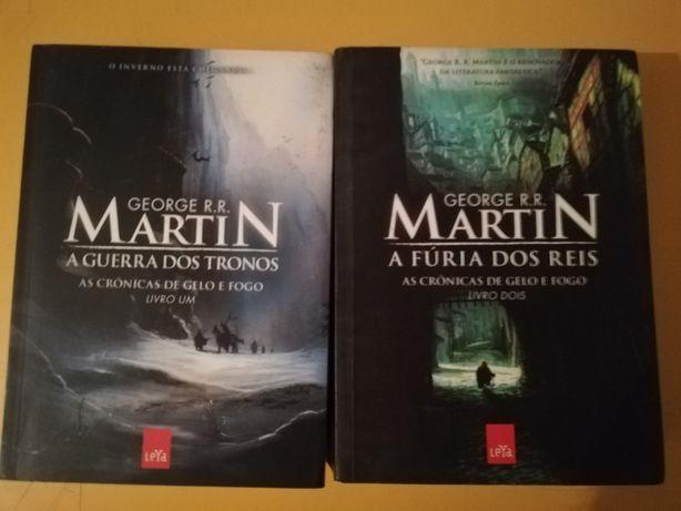 2 livros Guerra dos Tronos George Rr Martin