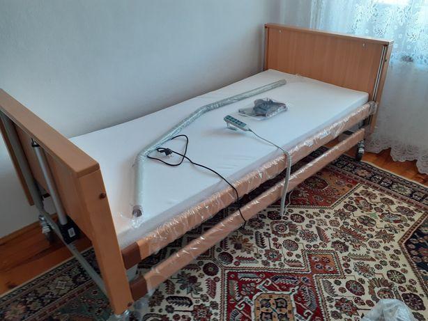 Łóżko rehabilitacyjne z materacem.  Nowe