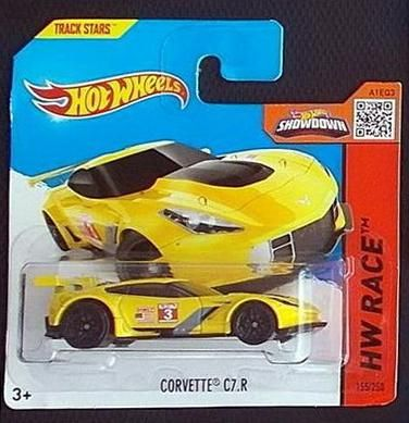 Hot Wheels w blistrze - Corvette C7.R, 2015