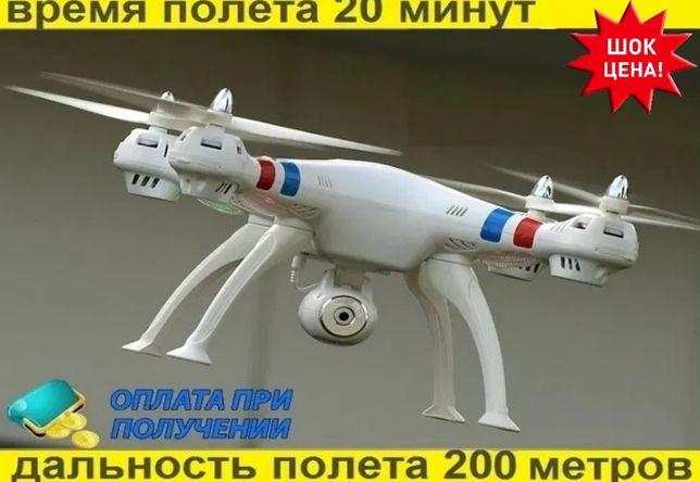 Квадрокоптер селфи дрон HD WiFi камерой 8МП. ⟹ 200 метров/ 20 минут