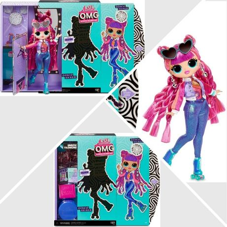 Оригинал большая кукла LOL Surprise OMG Roller Chick Диско Скейтер