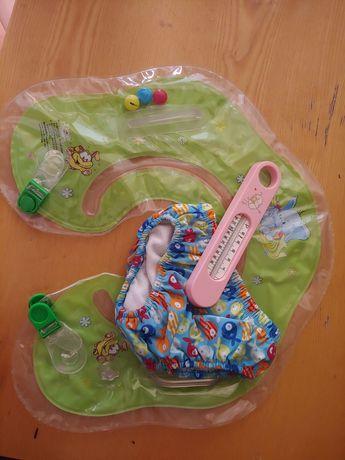 Плавки -памперс+надувной круг подголовник+водный термометр