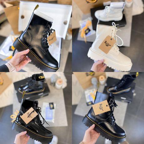 Женские Ботинки Dr. Martens Jadon! 36-41! Кожа! Без меха! Хит продаж!