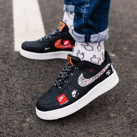 Nike Air Force Just Do It Black Red