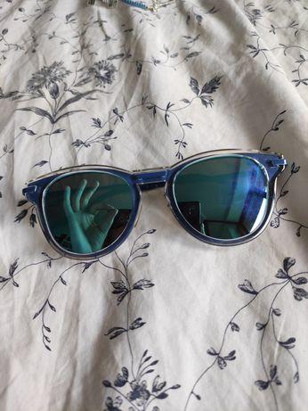Niebieskie lustarzane okulary przeciwsłoneczne Reserved