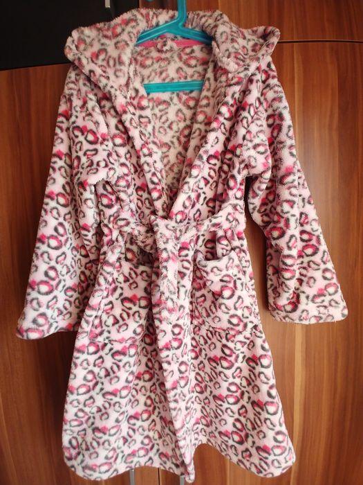 Szlafrok różowa panterka z kapturem 122 Siemianowice Śląskie - image 1