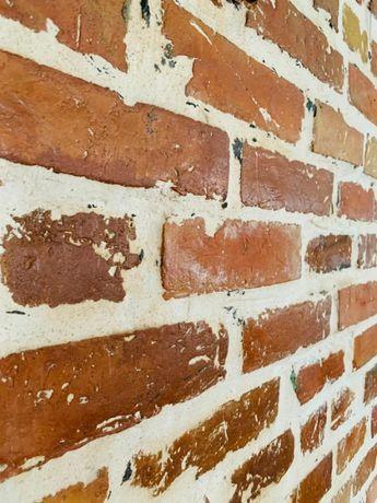 Cegła cięta, stara cegła, płytki z cegły