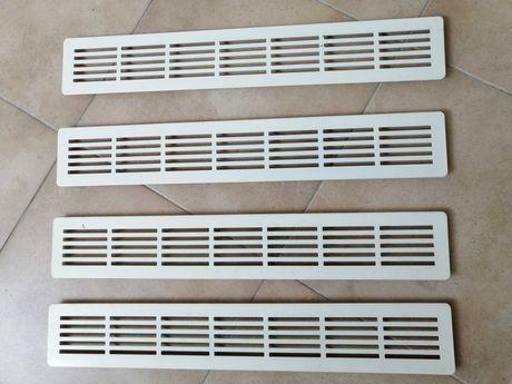 Grelhas de ventilação em alumínio branco