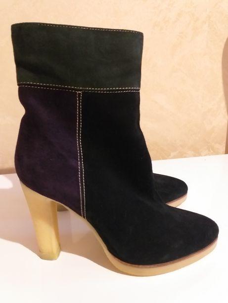 Сапоги полусапожки ботинки женские замша BRASCA