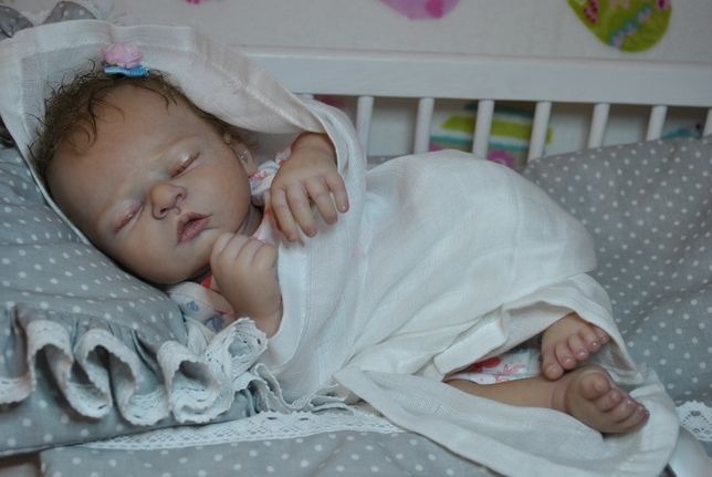 Nina Lalka reborn nowa dzidziuś niemowlę noworodek Komunia