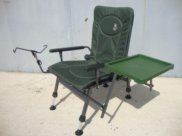 Кресло стульчик карповое рыбацкое на 110 кг Elektrostatyk Польша