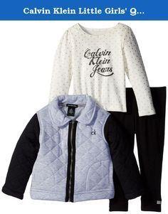Комплект Calvin Klein Little Girls´ Gray Quilted Jacket