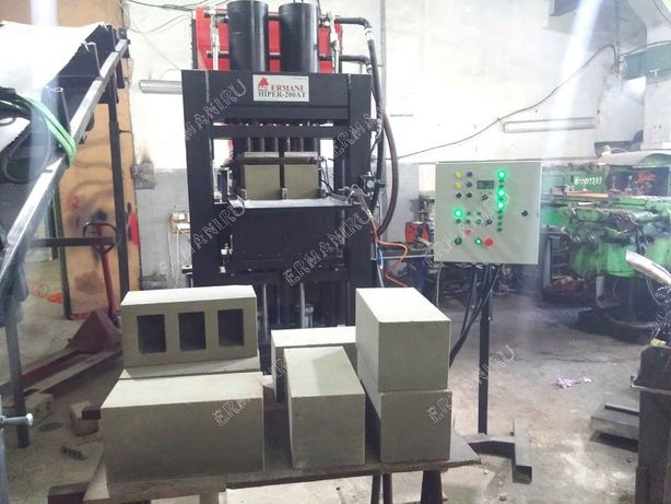 Hiper-200AT - do produkcji cegieł, bloczków, płyt chodnikowych