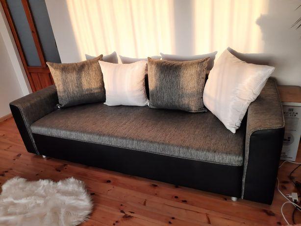 Komplet wypoczynkowy/ kanapa/ 2 fotele