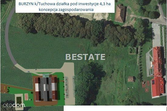 Działka, 42 700 m², Tuchów