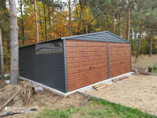Garaż blaszany grafit/antracyt 6x6, 6x5, 4x6, 7x6, 4x5, 3x5, 9x6, 7x7