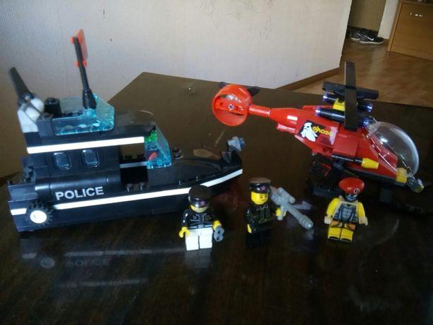 Игровой набор,аналог лего(вертолет,корабль)одним лотом