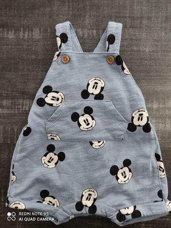 Ogrodniczki H&M r. 56 Myszka Mickey Disney