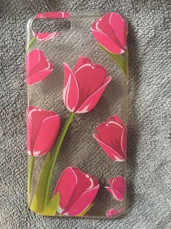 Obudowa etui case iPhone 7 8 plus (tulipany przeźroczysty)