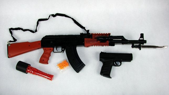 KAŁASZNIKOW AK47 Karabin na kulki Pistolet ASG