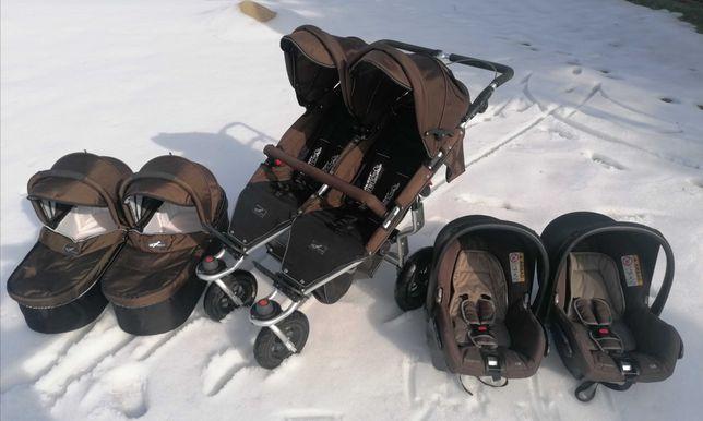 Wózek bliźniaczy TFK twinner twist duo adventure 3w1 super zestaw!