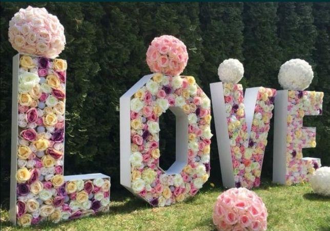 Sprzedam napis LOVE tabliczki  hymn miłości Wesle ślub
