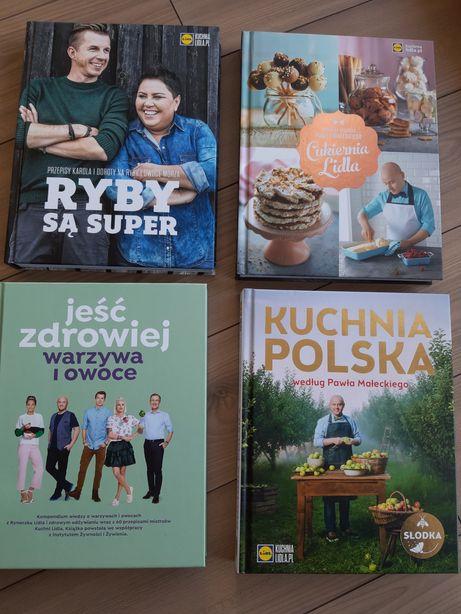 Ksiazki kucharskie LIDL: cukiernia, kuchnia polska, ryby, warzywa