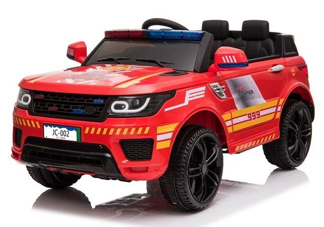 Samochód STRAŻ POŻARNA na akumulator dla dzieci Miękkie Koła+Skóra