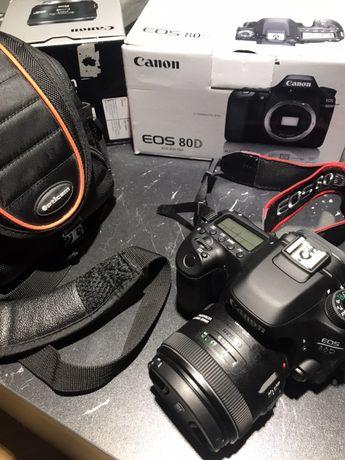 Canon eos 80d body przebieg 1000 zdjęć
