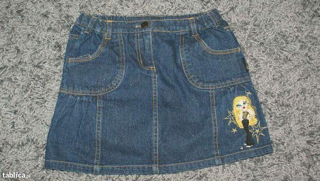 Brokatowa spódnica jeansowa BRATZ firmy LADYBIRD, rozm. 122 CM, 6-7 la
