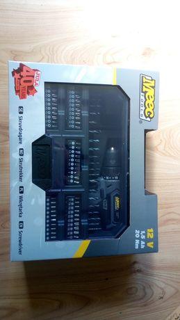 Wkrętarka 12V 1,5Ah +akcesoria ,wiertła ,końcówki