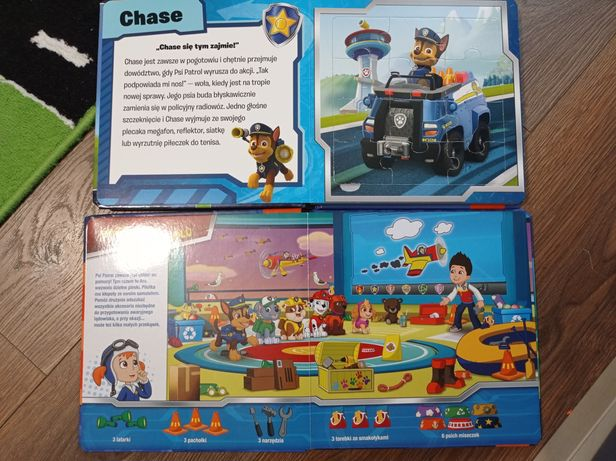 Zestaw książek Psi Patrol puzzle i poszukaj i znajdź