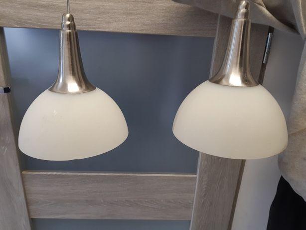 Lampa wisząca biała 2 szt w komplecie