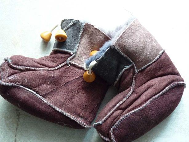 Детские тапочки  - натуральный мех