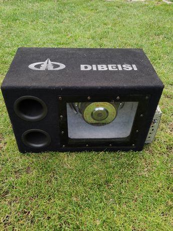 Skrzynia basowa Dibeisi wzmacniacz Blaupunkt plus 2 głośniki