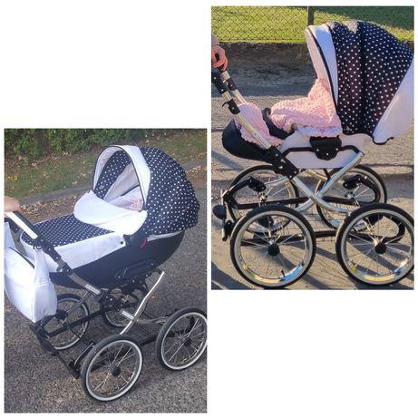 Wózek dziecięcy ROYS RETRO CHROM 3w1