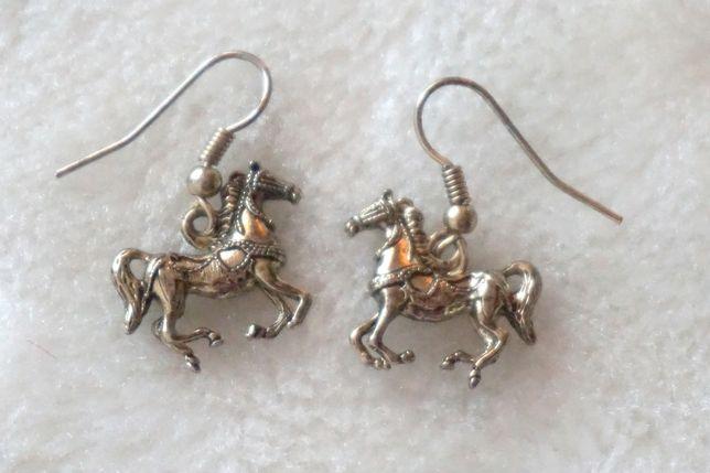 Kolczyki konie vintage