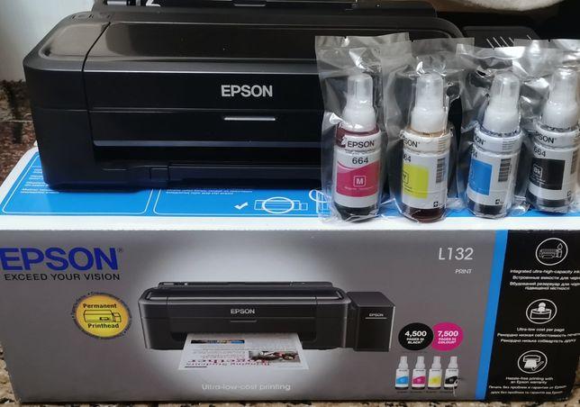 Струйный принтер Epson L132 с СНПЧ