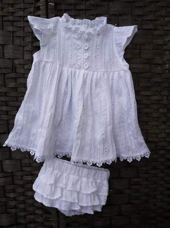 Sukienka batyst bloomersy chrzest
