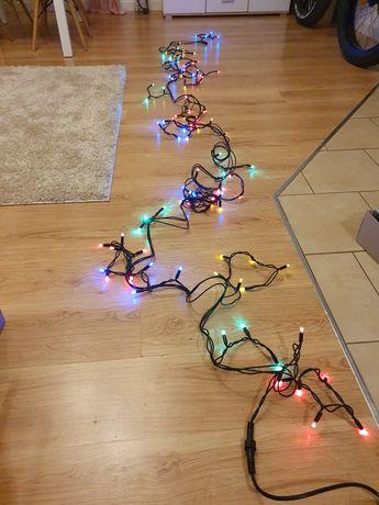 Lampki świąteczne sople kolorowe zewnętrzne