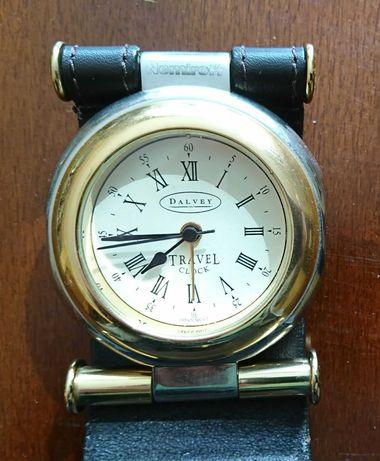 VIP дорожный будильник часы Dalvey сталь хром кожа логотип Nemiroff