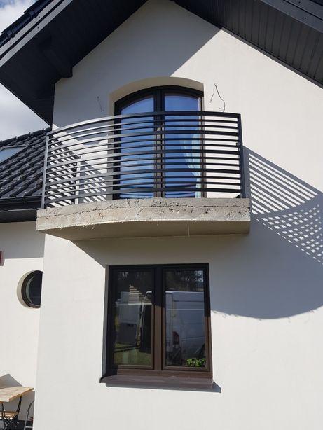 Balustrada balkonowa metalowa stalowa barierka