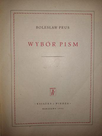 """Bolesław Prus """"Wybór pism"""""""