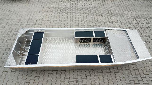 Łódka wędkarska, płaskodenna , aluminiowa, Brema 430